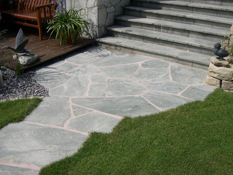 Werle gartenbau buch der ideen natursteinplatten - Natursteinplatten garten ...